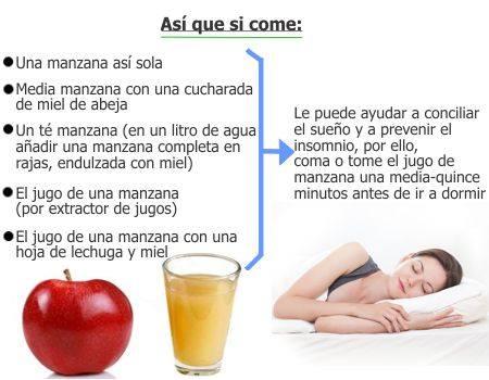¿Ayuda a dormir el jugo de manzana?