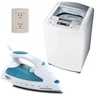 Como ahorrar energía eléctrica al usar la lavadora y la plancha