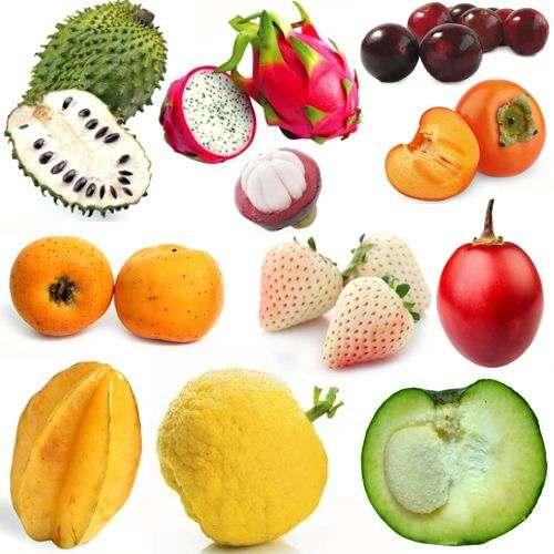 Frutas poco consumidas y conocidas