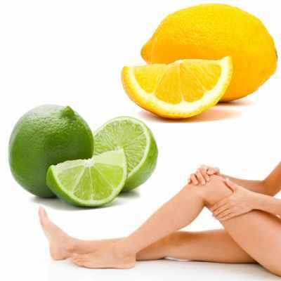 Masaje con limones en los pies