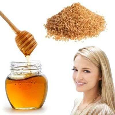 Mascarilla de miel con azúcar