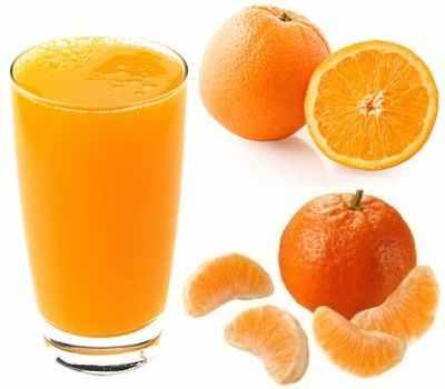 jugo de naranja y mandarina propiedades