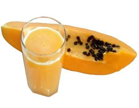 Una rica agua de papaya