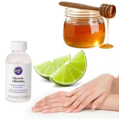 Glicerina, limón y miel