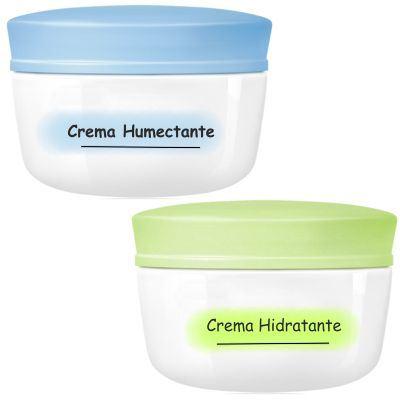 Diferencia entre crema con función hidratante y humectante