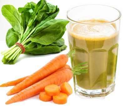 Beneficios del jugo de zanahoria y espinaca
