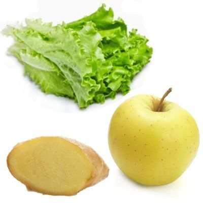 Propiedades del jugo de jengibre, manzana y lechuga