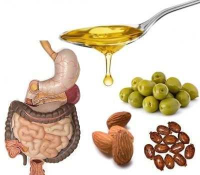 Purga con aceite de almendras