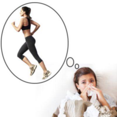¿Es malo ejercitarse con gripe?