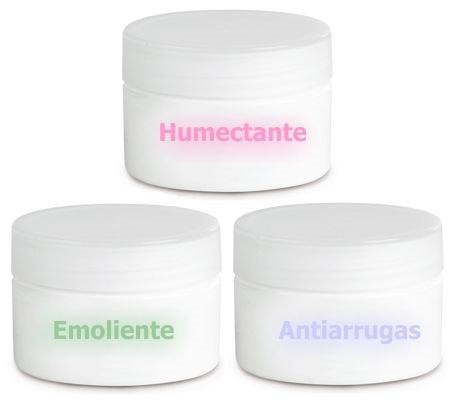 Propiedades de las cremas emolientes, humectantes y antiarrugas