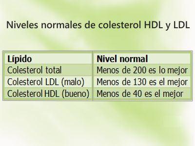 niveles de colesterol add together bajos