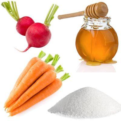 ¿Cómo preparar el rábano con azúcar y la miel con zanahorias para curar la tos?