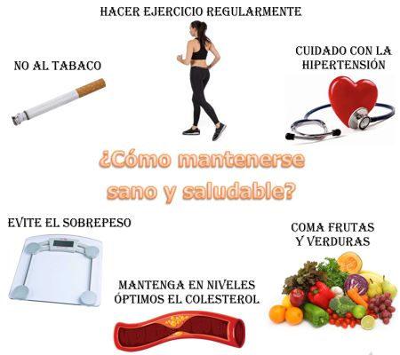 ¿Cómo se puede mantener sano y saludable el cuerpo humano?