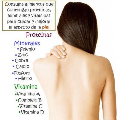 Como alimentarse bien para mejorar el aspecto y la salud de la piel del cuerpo